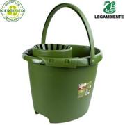 Eco secchio con strizzatore - Realizzato con materiali riciclati e riciclabili.